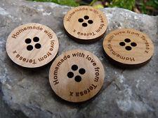 Personalizado Madera Botones-Boda favorece & gifts/engraved