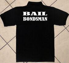Polo Shirt Blk., Staff, Police, Business Professional, Bail Bondsman, 100%Cotton