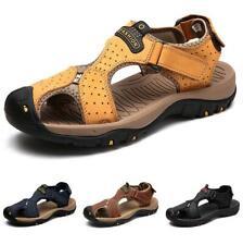 Men's Slingback Closed Toe Flats Non-slip Slip on Soft Beach Sport Sandals Shoes