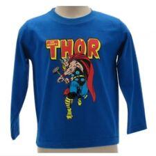 Maglia Thor Originale Marvel Avengers Maniche Lunghe Cotone e Caldo T-Shirt