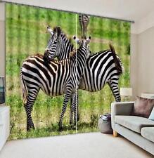 3D Zebra Tier 548 Blockade Foto Vorhang Druckvorhang Vorhänge Stoff Fenster DE
