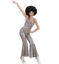 Costume Carnevale Donna Anni 70 Tuta Olografica Disco Fever PS 11346
