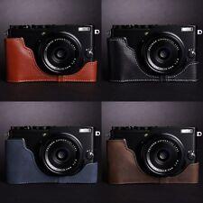 Genuine Real Leather Half Camera Case Bag Cover for FUJIFILM X70 4 Color