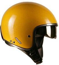 Casco helmet omologato Project Gordon single visor GAV08 glitter giallo S-M