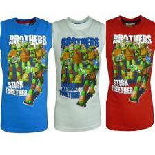 Garçons Ninja Tortues Débardeur / T-shirt sans manches Taille 3 - 8 Ans