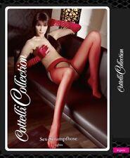 Sexy Collant rosso con aperture Cottelli Lingerie abbigliamento Intimo calze