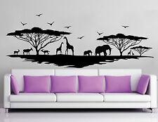 WALL STICKERS ADESIVI MURALI Savana animali muro casa tree wild natura alberi