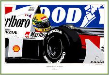 Senna by the renown  Auto Artist John Garrod Quality Print