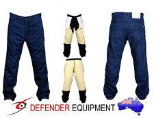 Mens Motorcycle Pants Motorbike Jeans Biker Reinforced Lining Blue Stone Wash