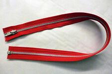 """Zip, Zipper 22""""/ 56cm, Open End, Metal YKK, Red"""