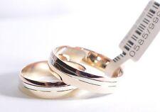 1 Paar Trauringe Eheringe Hochzeitsringe Gold 333 - Tricolor - Breite: 5,0 mm