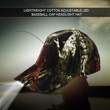 5 Bright LED Baseball Cap Adjustable Strap Night Walk Fishing Camping Hiking Hat