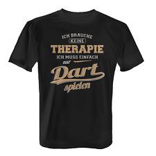 Therapie Dart spielen Herren T-Shirt Spruch Geschenk Idee Dartspieler Darts Neu