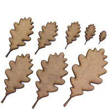 Oak Tree Leaf Craft Shapes, 2mm MDF Wood. Autumn Leaves. Various Sizes