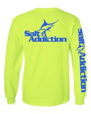 Salt Addiction long sleeve saltwater fishing t shirt flats ocean Marlin trolling