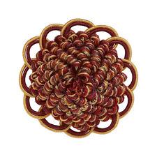 "Decorative Rosette 2.5"", WINE GOLD / Baroque Collection Style# BR Color: AUTUMN"