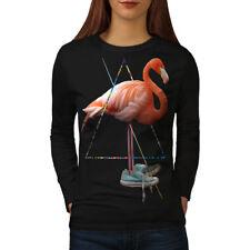 Flamingo Bird Shoe Women Long Sleeve T-shirt NEW | Wellcoda