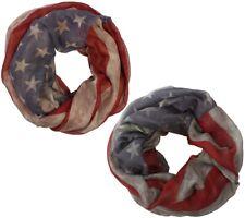 Loopschal / Schlauchschal mit USA Flaggenmuster Damen Herren Schal Frühlingschal