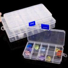 10/15/24/28Slots Adjustable Plastic Storage Box Jewelry Beads Organizer Case