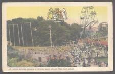 Postcard CRYSTAL BEACH,Ontario/CANADA  Acrobat Show & Ferris Wheel view 1910's