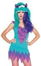 Fuzzy Frankie Monster w/ Hood Costume, Leg Avenue 83922, 2 Piece Size XS S/M M/L