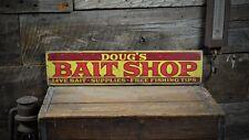 Custom Bait Shop Lake House Sign - Rustic Hand Made Vintage Wooden ENS1001116