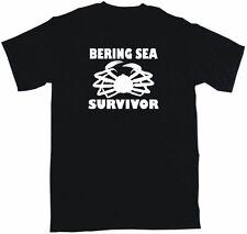 Bering Sea Survivor DISTRESSED Style Logo Shirt PICK Size Small - 6XL & Color