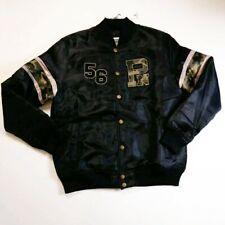 Parish Nation Mens 100% authentic L/S button varsity jacket black logo 1of1 rare