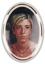 Porcelain picture, Grave image, picture, photo in colour