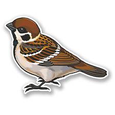 2 x 10 cm marrón pequeña Bird pegatina de Vinilo calcomanía auto Laptop Tablet Jardín # 5841