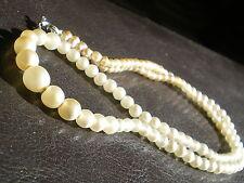 Collier Vintage Perles de Verre de Bohème Imitation Perles de Nacres Années 50 !