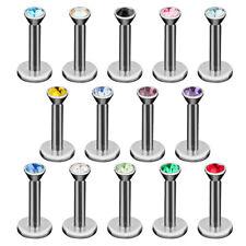 Lippenpiercing Schmuck Stecker mit Kristall