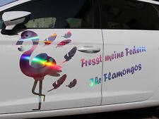 Flamingo Dekor Set Hologramm Premium Folie Aufkleber Einhorn deko kostüm party