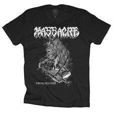 MASSACRE - Black N White From Beyond - T SHIRT S-M-L-XL-2XL Brand New Official