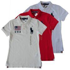 New Polo Ralph Lauren Women Big Pony USA Mesh Shirt XS S L