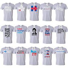 Hillary Clinton President 2016 Forward Stronger Together T-shirt Men shirt Gray