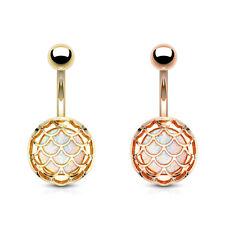 Piercing Ombelico - Opale Glitter Sirenetta Piercing 10mm Scala Pesci #607