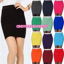 USA Stock New Women's  Girl Slim Stretch Bodycon Bandage Micro Mini Skirt