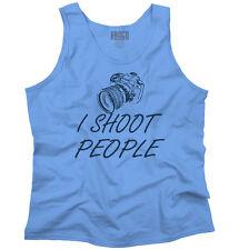 I Shoot People Funny Photographer Camera Photography Photo Tank Top Shirt