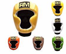 Cuir Véritable BOXE Casque de protection protecteur Thaï KICK MMA martiaux