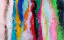 Cadena de plumas de marabú Fluffy Raso imperial Ajuste-Elegir Longitud y Color Libre P&P