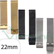 Cinturino 22mm acciaio metallo maglia milanese Samsung Gear 2 R380 Neo R381 MMC6