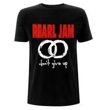 Pearl Jam-No te des por vencido círculos con el logotipo oficial hombre Negro T-Shirt