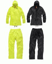 Da Uomo Scruffs IMPERMEABILE RainSuit Giacca Pantaloni Nero Giallo Workwear Hi-Vis