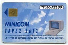 TELECARTE  50  MINICOM  TAPEZ 3612