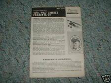 Renwal 1/48 Gabriel's Fokker D.VII   Instructions E.