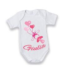 """Body Manica Corta Bodino Bimbo """"Ciuccio con Nome Personalizzato"""" Idea Regalo ..."""