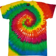 Tie Dye T Shirt Tye Die Festival Hipster Indie Retro Unisex Top Rainbow Green 3