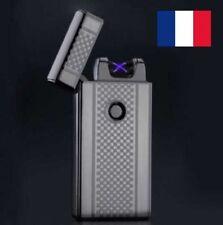 BRIQUET TEMPÊTE DOUBLE ARC ÉLECTRIQUE PLASMA RECHARGEABLE USB SANS GAZ PULSE