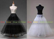 White/Black A Line Hoopless Bridal Wedding Skirts Crinoline Petticoat Slips